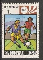 Maldives  1974  Football: World Cup, West Germany  1L  (**) MNH - Maldiven (1965-...)