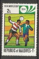 Maldives  1974  Football: World Cup, West Germany  2L  (**) MNH - Maldives (1965-...)