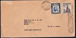 B0016 COLOMBIA 1954, Cover Bogota To Thomas De La Rue, London - Colombia