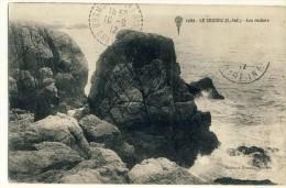 CP, 44, Le Croisic, Les Rochers, Voyagé En 1912 - Le Croisic
