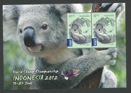 2012 Special Mini Sheet World Stamp Championship Indonesia  Block Of 2 X $2.35 Cent Stamps Complete MUH - Blocks & Sheetlets