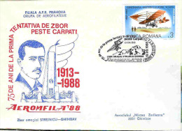Cover Romania,Airmail,special Flight Strejnicu-Ghimbav,75 Years From The First Attempt To Fly Over Carpathians Mountains - Airmail