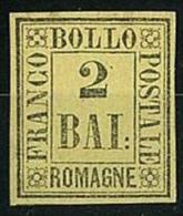 ANTICHI STATI - ROMAGNE - 2 BAI - GIALLO ARANCIO  - NUOVO * HINGED - PERFETTE CONDIZIONI - Romagne