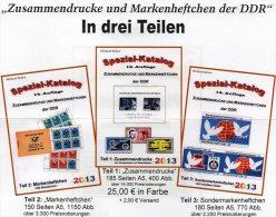 Katalog DDR Zusammendruck+Markenhefte 1-3 RICHTER 2013 Neu 75€ Zierfelder Se-tenant Booklet Special Catalogue Of Germany - Tarjetas Telefónicas