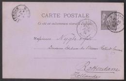 FRANCE 1884 Postal History POSTCARD Stationery From PARIS - HOLLAND 30.6.1884 - Postal Stamped Stationery