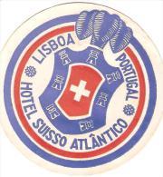 ETIQUETTE VALISE HOTEL SUISSO ATLANTICO LISBOA LISBONNE PORTUGAL - Hotel Labels
