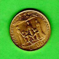 VATICANO VATIKAN VATICAAN - 1996 -   200 Lire - KM 276 - Ioannes Paulus II - Vatican