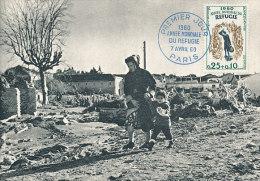 D12533 CARTE MAXIMUM CARD 1960 FRANCE - WORLD REFUGEE YEAR CP ORIGINAL - Refugees
