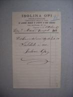 Fattura STIRATRICE Fornitrice Della R.Casa Di ISOLINA OPI. FIRENZE 1889 - Italia