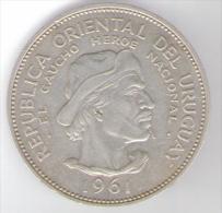 URUGUAY 10 PESOS 1961 AG - Uruguay