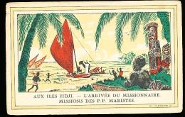 FIDJI DIVERS / Arrivée Du Missionnaire, Missions Des P. P. Maristes / - Fidji