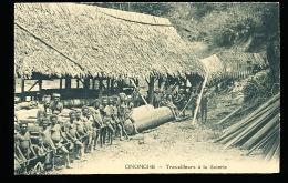 PAPOUASIE NOUVELLE GUINEE DIVERS / Ononghe, Travailleurs à La Scierie / - Papoea-Nieuw-Guinea