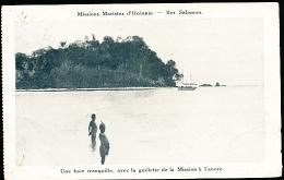 ILES SALOMON DIVERS / Une Baie Avec La Goëlette De La Mission à L'ancre / - Salomon