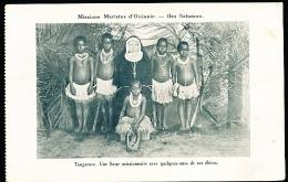 ILES SALOMON DIVERS / Tangarare, Une Soeur Missionnaire Avec Quelques-unes De Ses élèves / - Salomon
