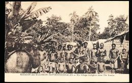 ILES SALOMON DIVERS / Un Village Indigène Dans L'Ile De Bouka / - Salomon