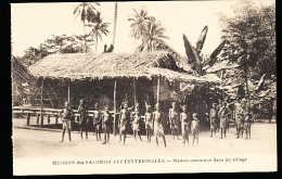 ILES SALOMON DIVERS / Maison Commune Dans Un Village / - Solomoneilanden