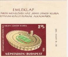 1961 NEPSTADION,NEPSTADIUM BUDAPEST HUNGARY OLD RARE MATCHBOX LABEL - Matchbox Labels
