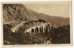 06  -  Route De SOSPEL à MENTON - Le Viaduc Semi-circulaire Du Caramel . Avec Tramway. - France