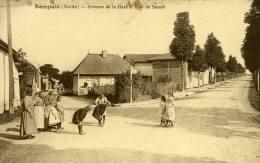 Sompuis Avenue De La Gare Et Rue De Soude Belle Carte Animée - Francia