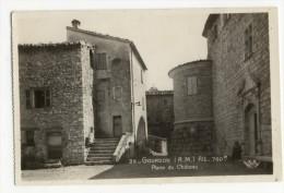 06 - GOURDON. - Place Du Château.  CPSM 9x14 - France
