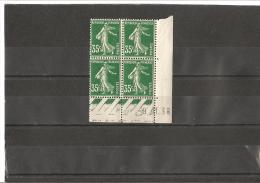 SEMEUSE BLOC DE 4 COIN DATE  N° 361 **  09.11.38 - 1930-1939
