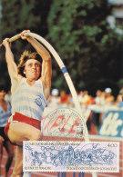 D12589 CARTE MAXIMUM CARD 1984 FRANCE - POLE VAULT CP ORIGINAL - Athletics