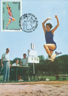 D12590 CARTE MAXIMUM CARD 1992 ROUMANIA - LONG JUMP CP ORIGINAL - Athletics