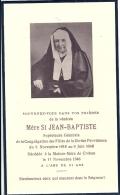 BRETAGNE - 22 - COTES D'ARMOR - CREHEN - Maison Mère - Mère Saint Jean Baptiste Supérieure Filles De La Divine Providenc - Avvisi Di Necrologio