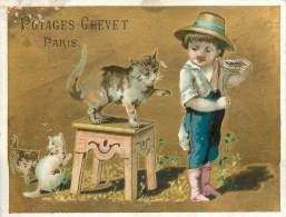 : Réf  FRP-2 13-039 : Potages Chevet Paris Chat ( état Moyen) - Zonder Classificatie
