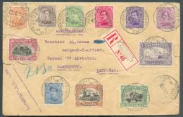 N°135/145 - Emission 1915 Du 1 Centime Au 1Fr. Obl. Sc Postes Militaires Belgique 2 Sur Lettre Recommandée Du 1-III-1916 - 1915-1920 Albert I
