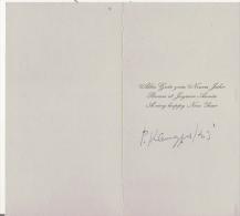 PIERRE KLEMCZYNSKI (ST CLAUDE JURA 1910 1991) PEINTRE CARTE DE VOEUX AVEC PHOTO D'UNE DE SES OEUVRES AVEC AUTOGRAPHE - Autographs