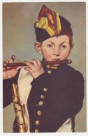 """Carte Postale Anc """"comité National De L'enfance"""" Le  Joueur De Fifre De Manet - Paintings"""