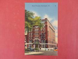 - Vermont > Burlington  Hotel Vermont   Linen    Not Mailed --- Ref 982 - Burlington