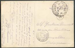 C.P. Illustrée Du Camp D´Elsenborn, Obl. Sc Postes Militaires BELGIQUE  9 Du 9-IV-1920 Vers Bruxelles (Le Camp était Ins - Weltkrieg 1914-18