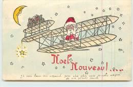 NOËL NOUVEAU  -  Père Noël En Avion. - Navidad