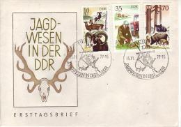 D FDC 2270 +73 + 75  Jagdwesen In Der DDR - Mufflon - Jungwild - Wildschwein - FDC: Covers