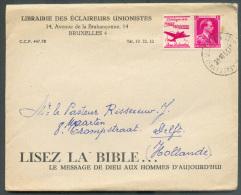 PU166 - 1FR. Pub. POSTE AERIENNE SILOMBRA Obl. Sc Saint-JOSSE-ten-NOODE Sur Lettre Du 31-10-1961 Vers Delft. - 8889 - Reclame