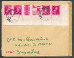 Puc156B - Combinaison 1FR. Pub. PHILATELUX (+ 2 Timbres N°528) Coin De Feuille, Obl. Sc BRUXELLES Sur Lettre Du 20-1-197 - Advertising