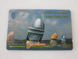 Antigua & Barbuda GPT Magnetic Phonecard,13CATA Sailing Week,used - Antigua And Barbuda