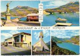 """Savines Le Lac, Barrage De Serre Ponçon (nouveau Village, église, ..."""" - France"""