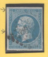 Napoléon III  N° 14A (Variété, Petits Points Et Filet Brisé)  Avec Oblitération Losange  TTB - 1853-1860 Napoleon III