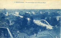 CP, 82, Montauban, Vue Panoramique Sur Le Pont De Sapiac, Vierge - Montauban
