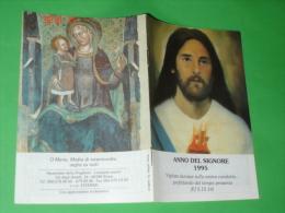 Calendarietto Anno 1995 - Libretto 12 Pagine - Gesù Sacro Cuore / Maria Madre Misericordia -Lampade Viventi,Astalli-Roma - Formato Piccolo : 1991-00