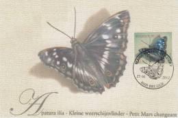 Kaart Van Kleine Weerschijnvlinder / Met Zegel En Mooi Gestempeld 27-10-2012 8000 Brugge - Autres