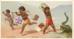 : Réf  FRP-2 13-153 : Huntley & Plamers  Negroes Negres Neger ( Crocodile) - Confectionery & Biscuits