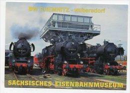 TRAIN - AK 157600 BW Chemnitz-Hilbertsdorf - Sächsisches Eisenbahnmuseum - Stations With Trains