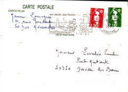 CPI 2616 (entier)+2617 Roulette  Ancienne Flamme D'Avranches Donville Poste Restante - 1961-....