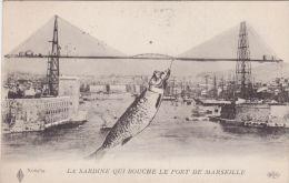 Cp , 13 , MARSEILLE , La Sardine Qui Bouche Le Port De Marseille - Old Port, Saint Victor, Le Panier