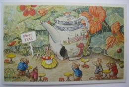 Racey Helps - The Tea Shop - Lapin Oiseau Et Souris - Trace De Colle Et Papier Au Dos - Illustrateurs & Photographes