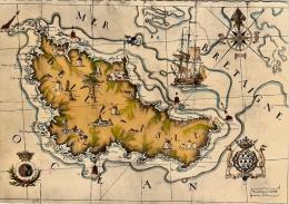 BELLE-ISLE-EN-MER-CARTE GEOGRAPHIQUE D´APRES PIERRE CADRE - Belle Ile En Mer